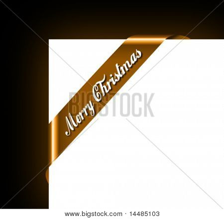 Merry Christmas Ribbon for Picture Framing