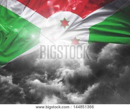 Burundi flag on a bad day