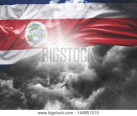 Costa Rica flag on a bad day