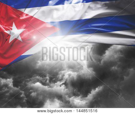 Cuba flag on a bad day
