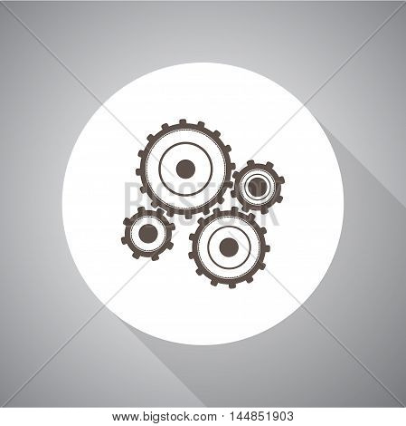gear vector icon for web and mobile