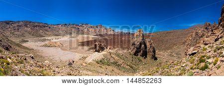 panoramic view of the Liano de Ucanca mountains - volcano Teide national park Tenerife