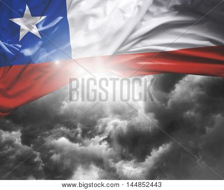 Chile flag on a bad day