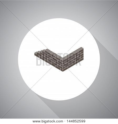 Brick wall  vector icon for web and mobile.
