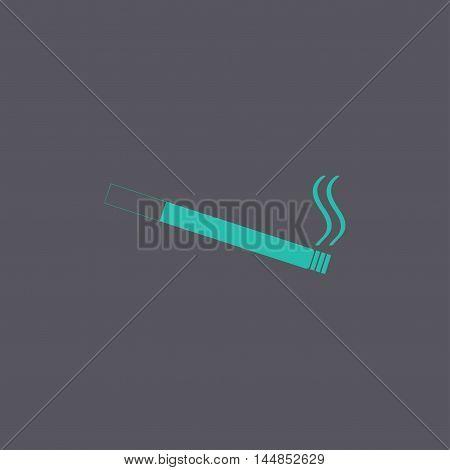 Cigarette Icon. Flat Design Style.