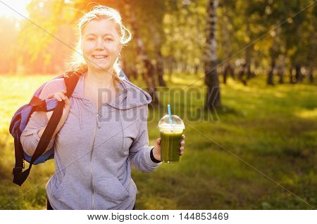 Sporty Woman Preparing To Exercise In The Park.