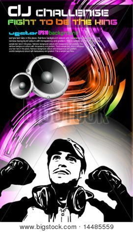 Alternative Discoteque Music Flyer with Attractive Rainbow Colours