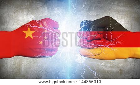 Germany vs China  3D Rendered