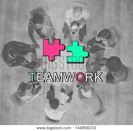 Teamwork Alliance Collaboration Connection Concept