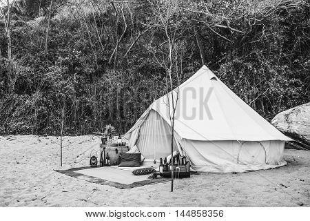 Tent Camp Wild Journey Resting Outdoor Trip Concept