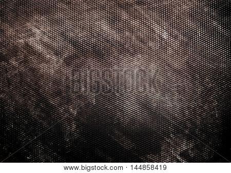 rusty iron mesh background