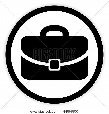 Portfolio symbol button on white background. Vector illustration.