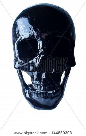 Terrifying halloween skull on white for October holiday background