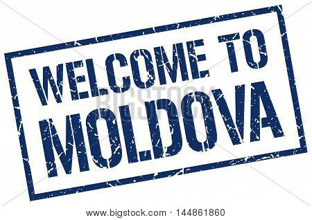 welcome to Moldova. stamp. grunge square sign