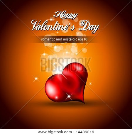 Lonely Heart Background for Valentine's Stylish flyer