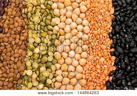 beans food, fresh on a white background