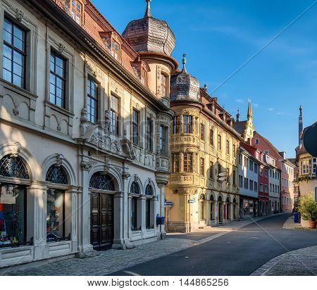 Main street in Marktbreit Bavaria old Germany