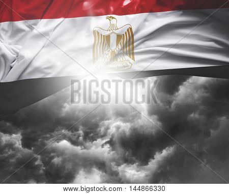 Egypt flag on a bad day