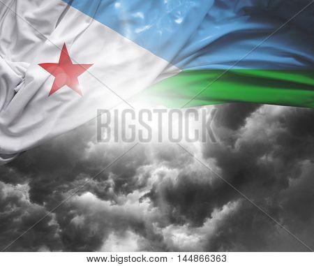 Djibouti flag on a bad day