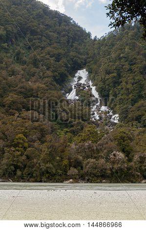 Roaring Billy Falls in south island of New Zealand
