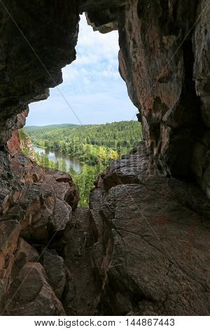 Rocks And Pines Of The Urals