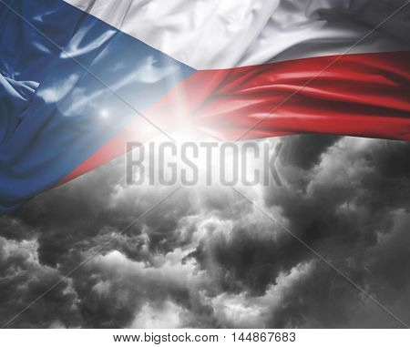 Czech Republic flag on a bad day