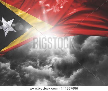 East Timor flag on a bad day