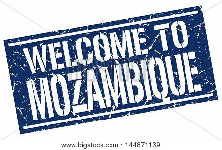 welcome to Mozambique. stamp. grunge square sign