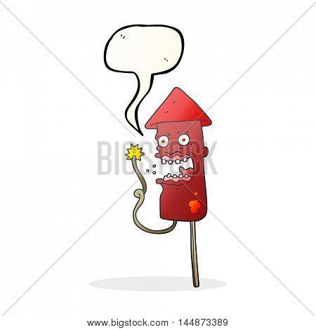 freehand drawn speech bubble cartoon screaming firework