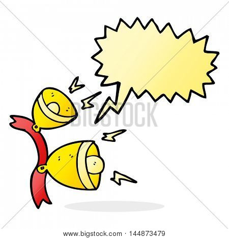 freehand drawn speech bubble cartoon jingle bells