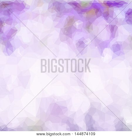 Low poly illustration abstract violet bokeh background with bubbles and flares