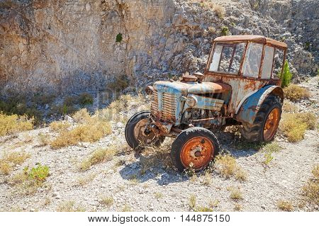 Old Abandoned Rusted Tractor, Greece