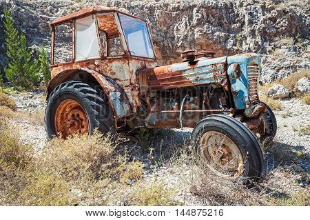 Old Abandoned Rusted Tractor