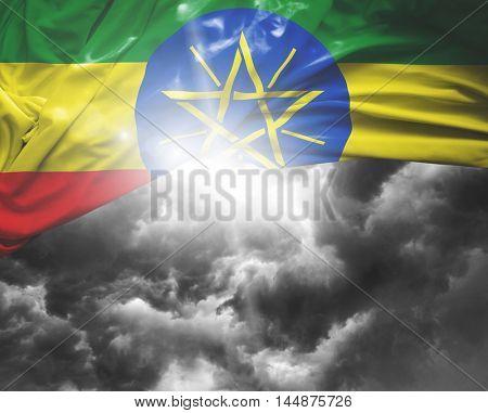 Ethiopia flag on a bad day