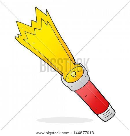 freehand drawn cartoon torch