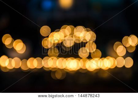 bokeh background of Christmas light on bright colors style.