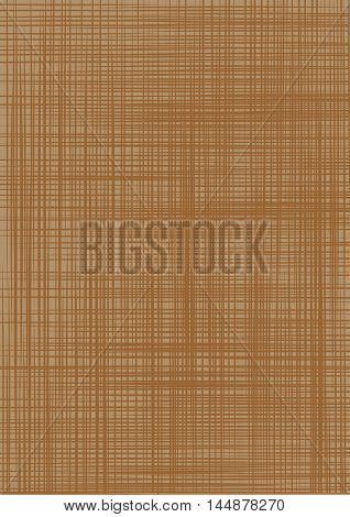 Sacking. Brown backgrounds imitating fabric. Vector illustration
