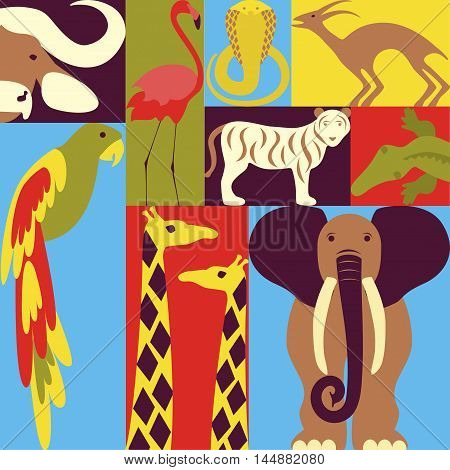 Vector travel to africa banner template Explore the world