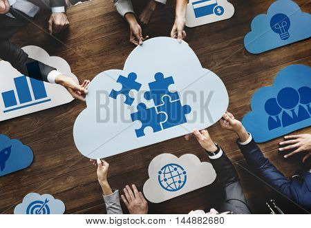 Cloud Words Business Graphic Concept