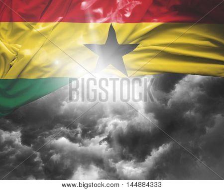 Ghana flag on a bad day