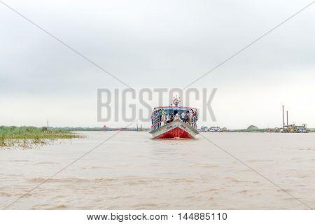 Passenger Ferry Boat In Open Waters