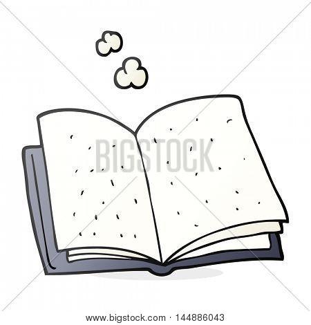 freehand drawn cartoon book