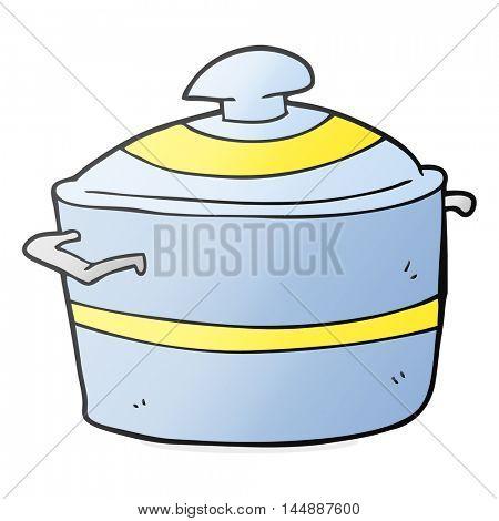 freehand drawn cartoon cooking pot