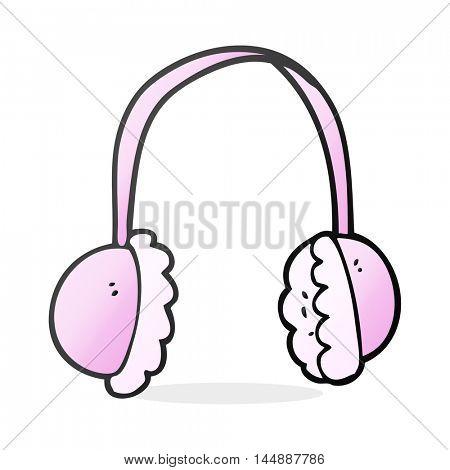 freehand drawn cartoon ear muffs