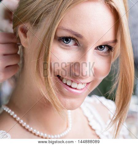 Beauty Bride Before Wedding