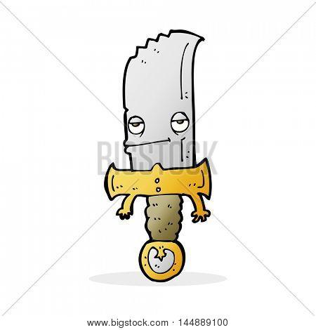 knife cartoon character