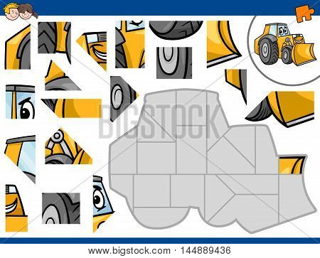 Jigsaw Puzzle With Bulldozer