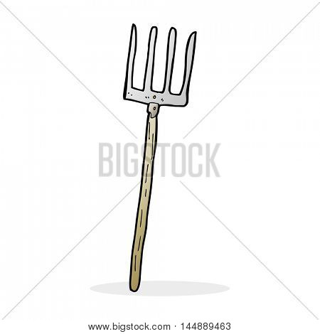 cartoon pitch fork