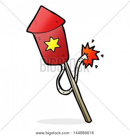 cartoon firework with burning fuse