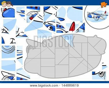 Jigsaw Puzzle With Plane